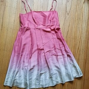 The Limited Silk Pink Ombre Dress 10